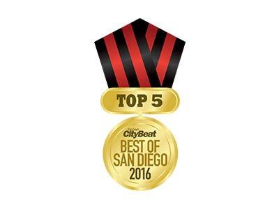 2016 Top 5 Best of San Diego Award