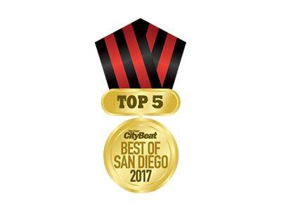 2017 Top 5 Best of San Diego Award