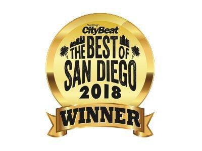 2018 Winner Best of San Diego Award