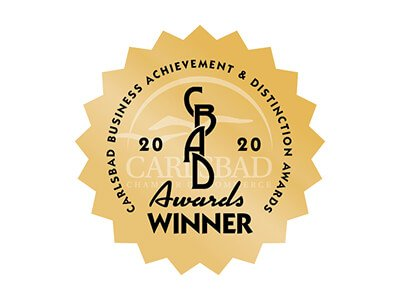 2020 Winner Carlsbad Business Achievement & Distinction Awards